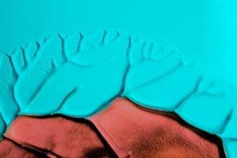 Bruin en turquoise aquarel textuur ontwerppatroon