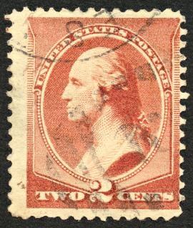 Bruin george washington postzegel
