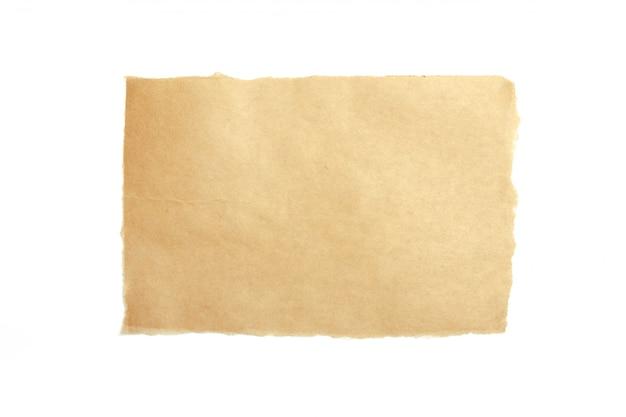 Bruin gescheurd stuk papier