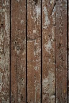 Bruin geschilderd houtstructuur van houten muur voor achtergrond en textuur.