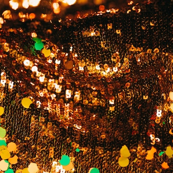 Bruin glanzende pailletten met confetti