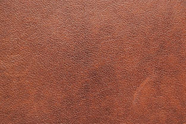 Bruin lederen textuur achtergrond close-up