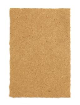 Bruin papier op witte achtergrond