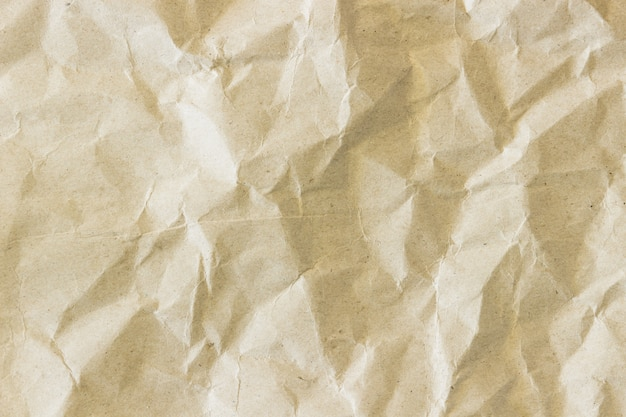 Bruin papier verfrommelen textuur achtergrond