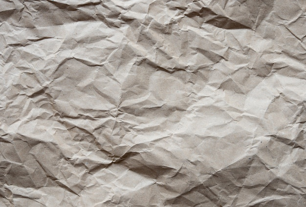 Bruin verfrommeld gerecycled papier textuur