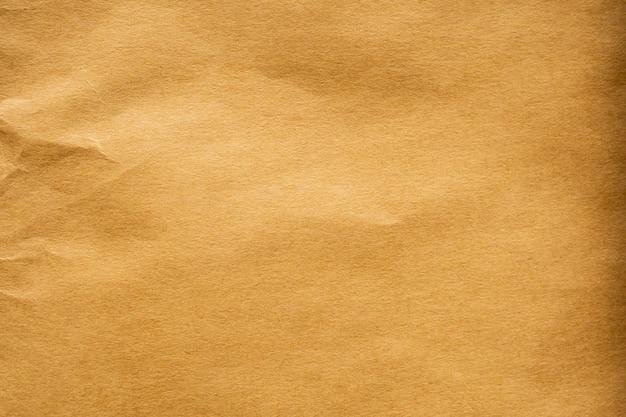 Bruin verfrommeld papier gerecycled kraft blad textuur achtergrond
