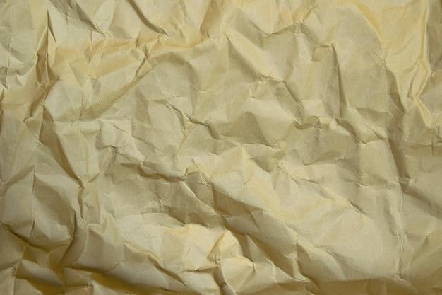 Bruin verfrommeld papier textuur achtergrond