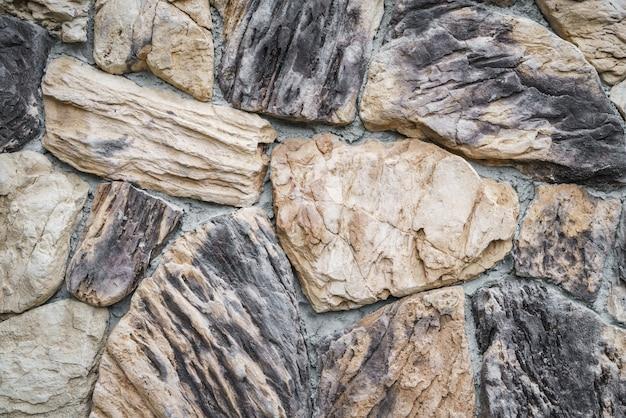 Bruine antieke blokken behang gewone