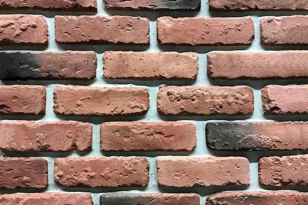 Bruine bakstenen muurtextuur. interieur bacckround grunge achtergrond