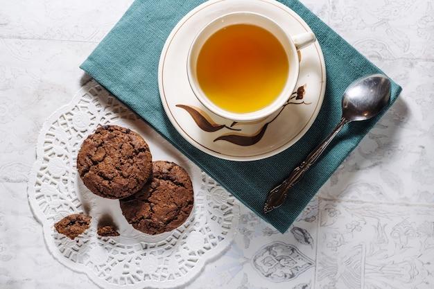 Bruine chocoladeschilfers koekjes