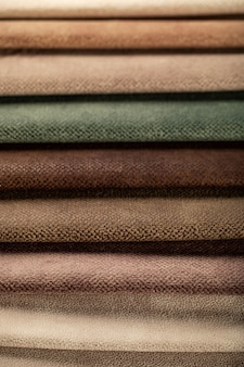 Bruine en groene kleur lederen weefsels op maat in de catalogus