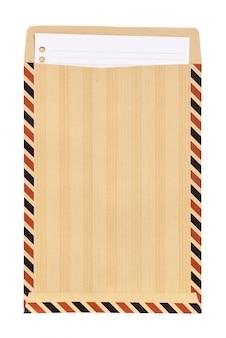Bruine envelop met wit notadocument