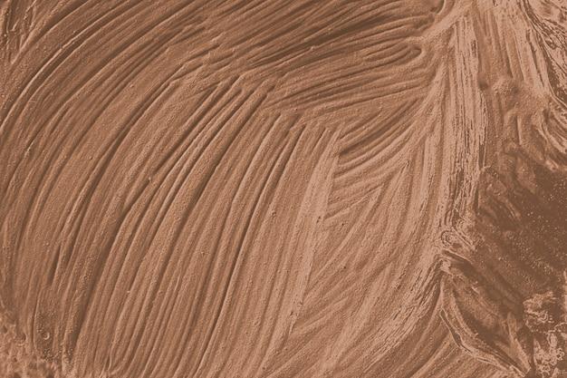Bruine getextureerde olieverf penseelstreek