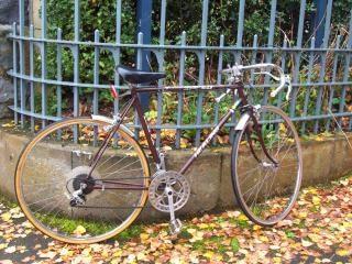Bruine heling fiets