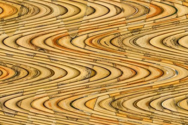 Bruine het patroonachtergrond van de bamboe abstracte textuur