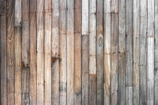 Bruine houten de textuurachtergrond van de plankmuur (natuurlijke houten patronen) voor ontwerp.