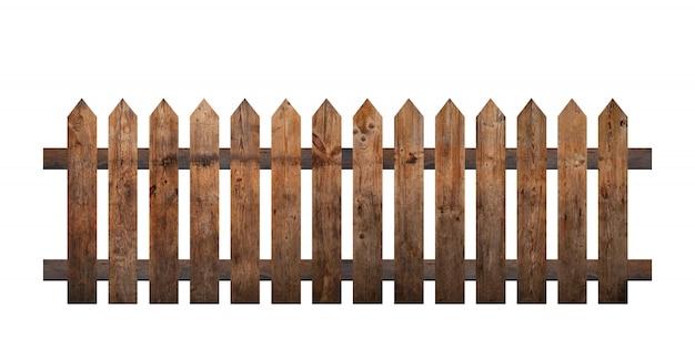 Bruine houten hek geïsoleerd