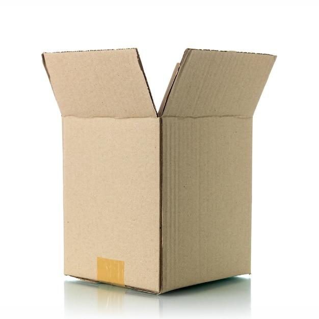 Bruine kartonnen doos