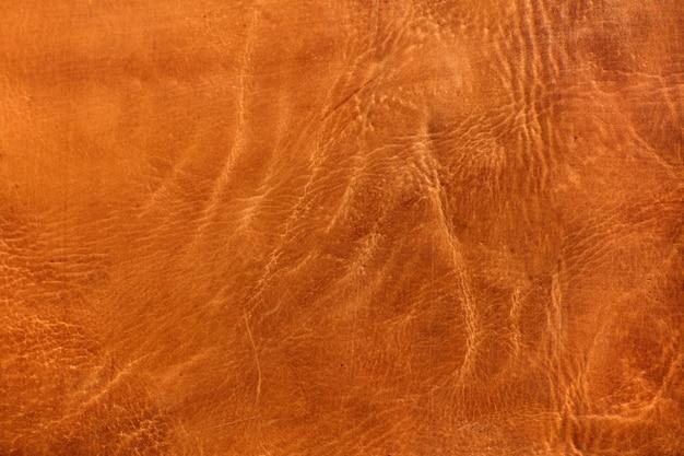 Bruine koe lederen huidtextuur of achtergrond