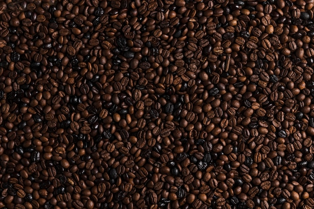 Bruine koffiebonen