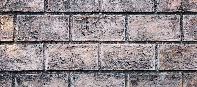 Bruine oude bakstenen muurtextuur