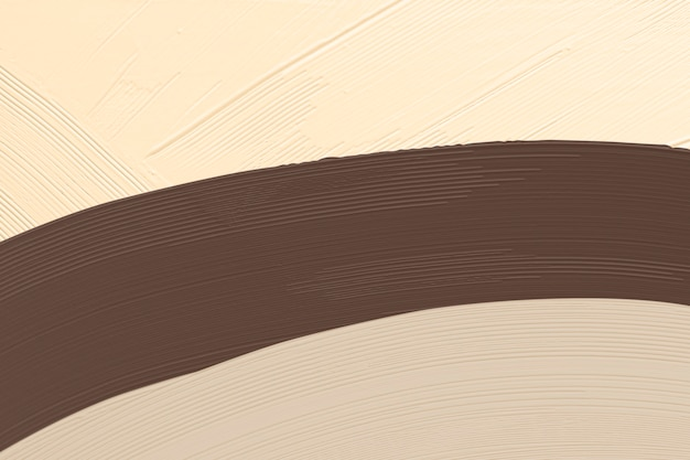 Bruine penseelstreek geweven op beige achtergrond
