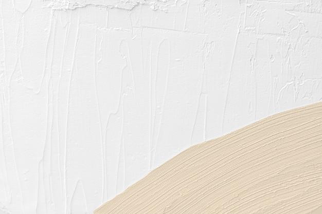 Bruine penseelstreek geweven op een witte achtergrond