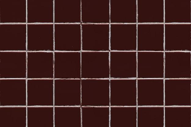 Bruine vierkante betegelde textuurachtergrond