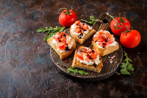 Bruschetta met tomaten
