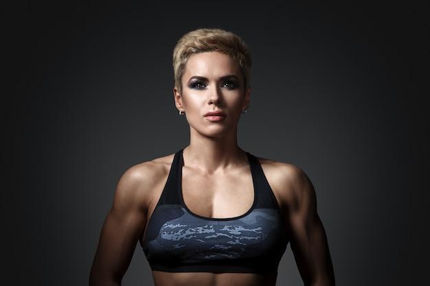 Brute atletische vrouw