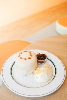 Bubble milk tea souffle pannenkoek dessert