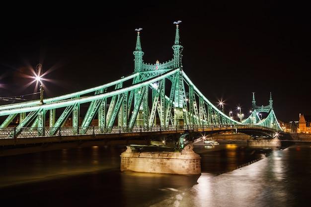 Budapest, hongarije. szabadsag, liberty bridge