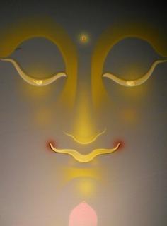 Buddha gezicht zen