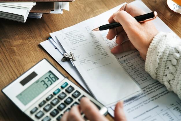 Budgetplanning boekhoudkundig boekhoudconcept