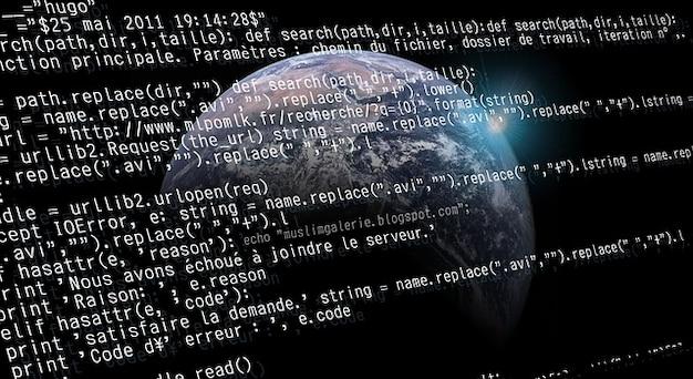 Bug programma aarde code ruimte op uw bureau