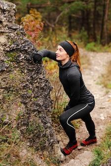 Buiten hardlopen en rusten