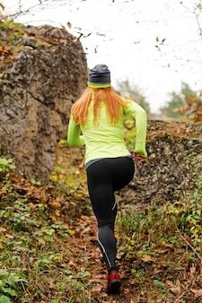 Buiten hardlopen in de herfst