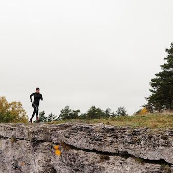 Buiten hardlopen training afstandsschot