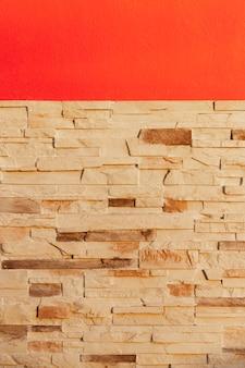 Buiten rode bakstenen muur achtergrond