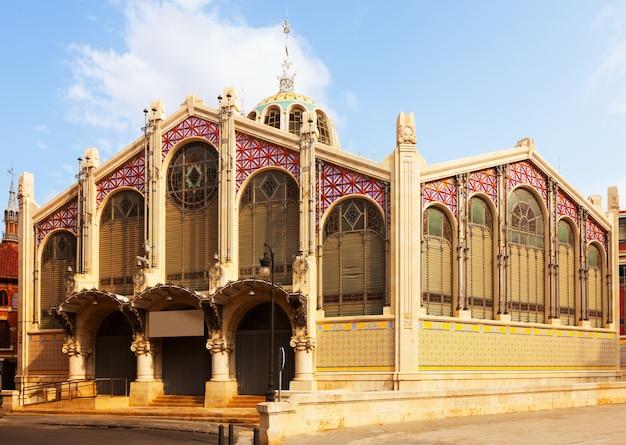 Buitenkant van de centrale markt in valencia