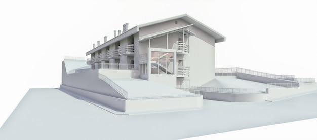 Buitenkant van een residentieel gebouw