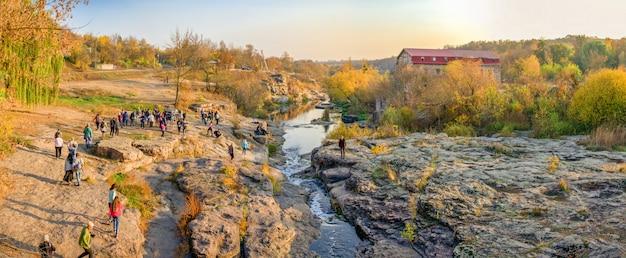 Buky canyon en hirskyi tikych rivier in oekraïne