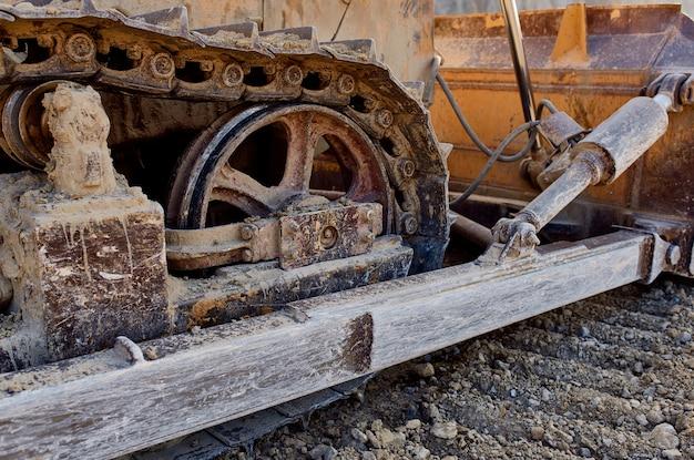 Bulldozer op de bouwplaatswerkindustrie