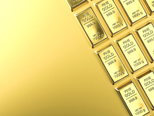 Bullions of goudstaaf op gouden achtergrond