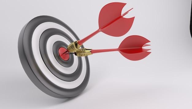 Bullseye met twee darts