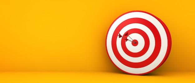 Bullseye op geel