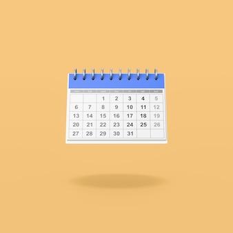 Bureaukalender op oranje achtergrond