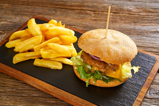 Burguer en frieten chips