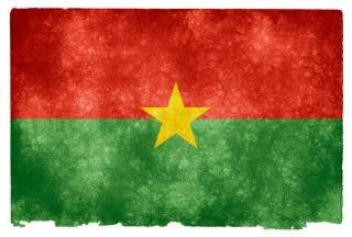 Burkina faso grunge vlag trots
