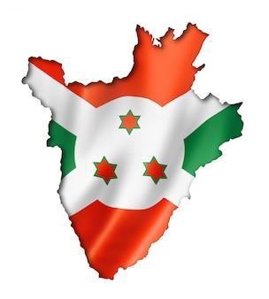 Burundese vlag kaart